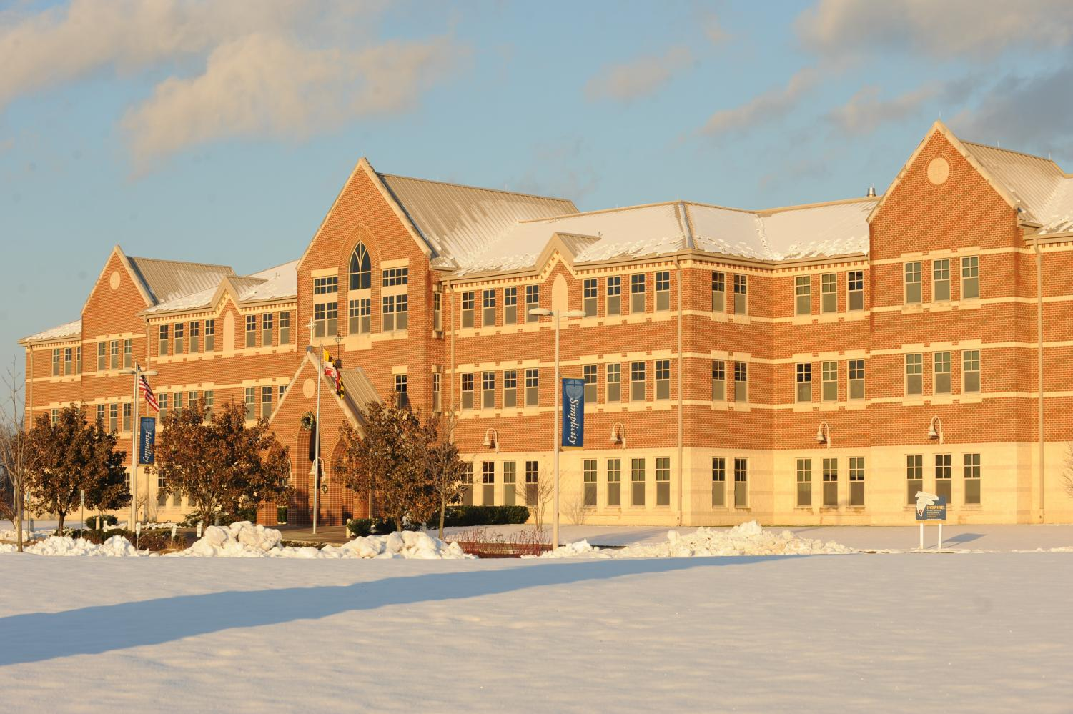 GC had its first snow day on Thursday, January 4
