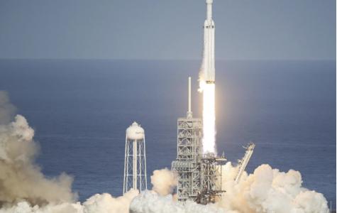 The Falcon Heavy Takes Flight