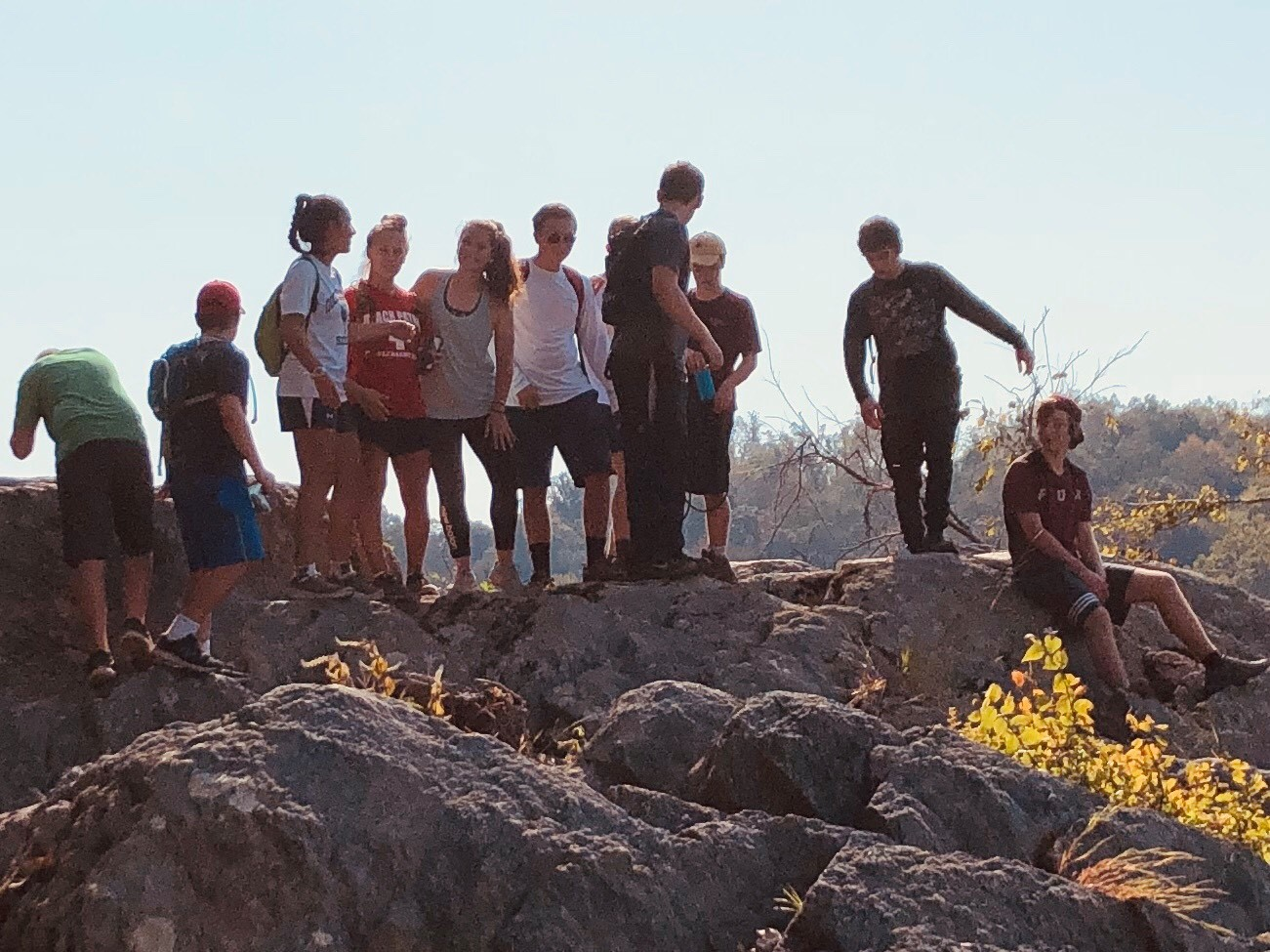 The OLGCHS's Hiking Club and their first outing on the Billy Goat Trail C Section.
