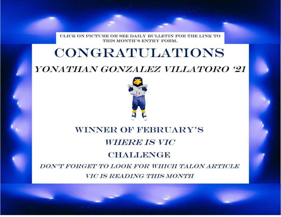 Where's Vic? February's Winner